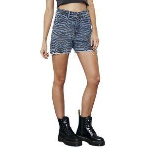 The People Vs. Motley Zebra Shorts Sz 8